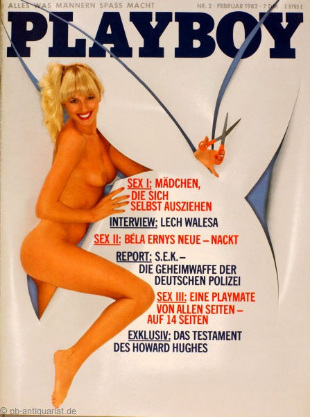 Playboy Februar 1982, Playboy 1982 Februar, Playboy 2/1982, Playboy 1982/2