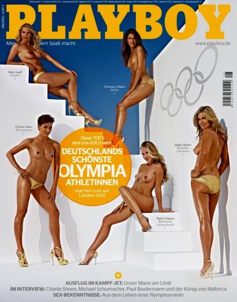 Playboy August 2012, Playboy Beate Gauß, Playboy Angela Maurer, Playboy Christina Schütze, Playboy Regina Seergeva, Playboy Christin Steuer,