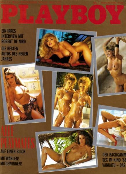 Playboy 1989 Januar Deutsche Originalausgabe